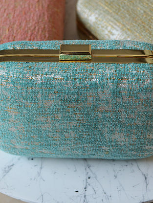 Turquoise Handcrafted Clutch