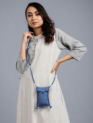 Indigo Blue Naturally Dyed Printed Cotton Sling Bag