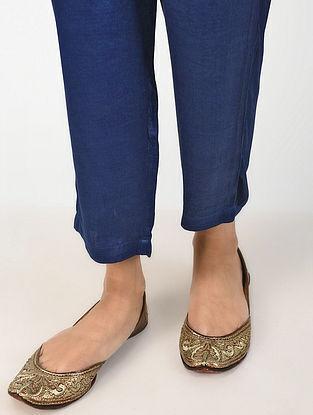 Indigo Natural-dyed Mashru Silk Pants