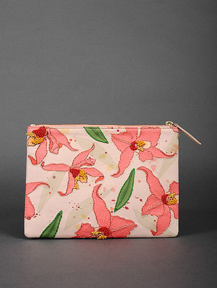 Pink Handcrafted Neoprene Pouch