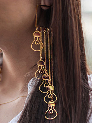 Classic Gold-plated Bulb Earrings