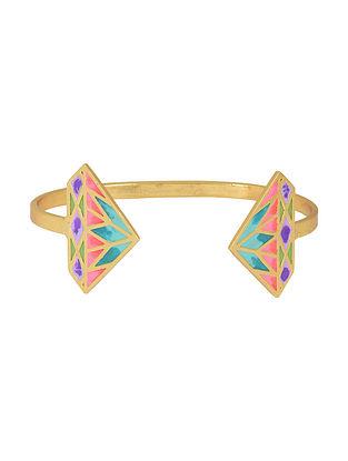 Crazy Diamond Multi-colored Gold-plated Enamel Cuff