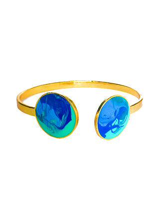 Colour Carnival Blue Gold-plated Adjustable Cuff