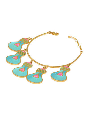 Blue Bulb Gold-plated Enamel bracelet