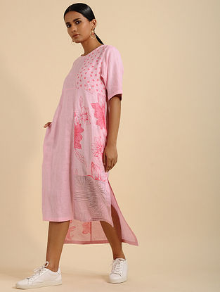Perky Pink Printed Linen Tunic