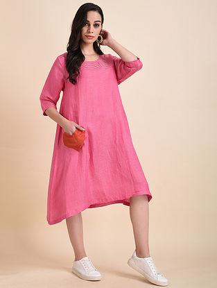 Pink Applique Bemberg Linen Tunic