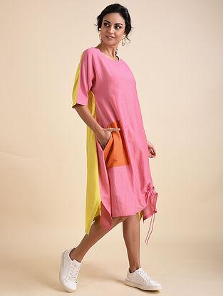 Multicolored Applique Cotton Silk Tunic