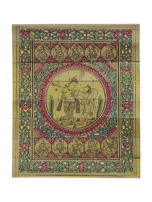 Dashavatar Rasa Pattachitra on Palm Leaf 9.6in x 8in