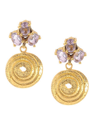 Amethyst Gold-plated Silver Earrings