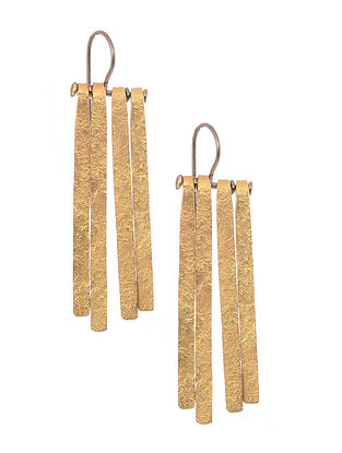 Dual Tone Gold-plated Silver Earrings
