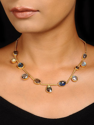 Labradorite Gold-plated Silver Necklace