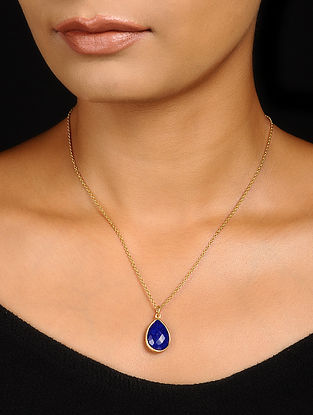 Lapis Lazuli Gold-plated Silver Necklace