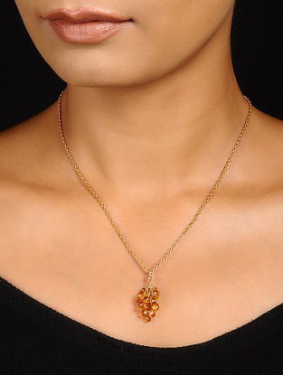 Citrine Gold-plated Silver Necklace