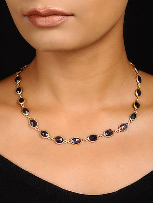 Iolite Gold-plated Silver Necklace