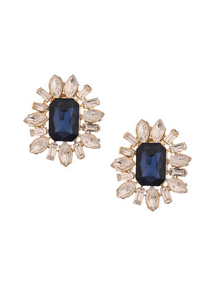 Blue Gold Plated Handcrafted Earrings