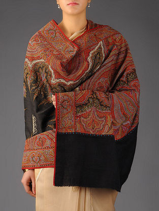 Intricate Kashmir 1860s All-over Hand Woven Jamawar with Center Pashmina Shawl by Aditi Collection