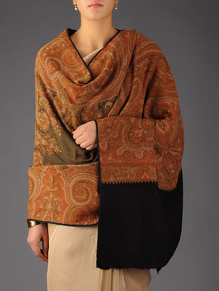 French Paisley 1860s All-over Jacquard Loom Woven Shawl by Aditi Collection