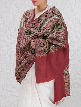 Intricate Dogra Kashmir 1850s Jamawar Pashmina Shawl By Aditi Collection