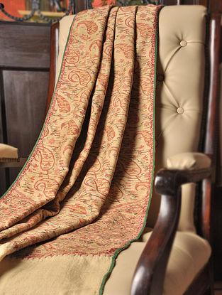 Beige Kashmir Handwoven Paisley Design 1820's Pashmina Jamawar Moon Shawl