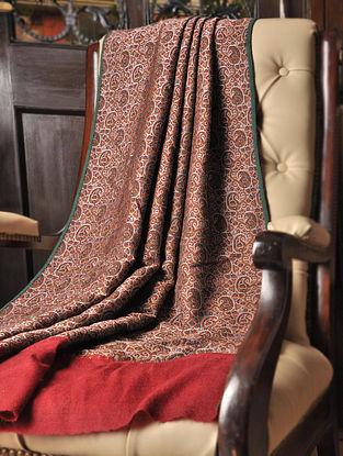 Anjuman 1970s Iranian Wool And Silk  Shawl With Pashmina Pallas by Aditi Collection