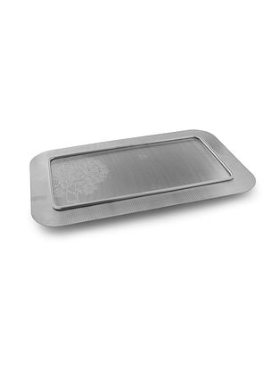 Tree of Life Stainless Steel Tray (L:16.9in x W:10.4in x H:1in)