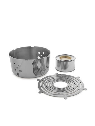 Four way Stainless Steel Food Warmer (L:6.7in x W:6.7in x H:2.9in)