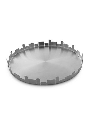 Urban Stainless Steel Platter (L:14in x W:14in x H:1.7in)