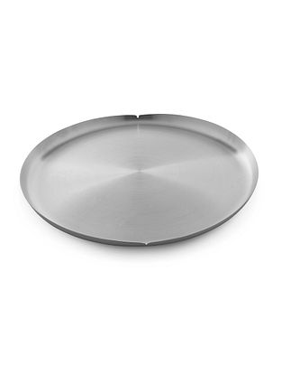 Kalpataru Stainless Steel Thaali (L:13.6in x W:13.6in x H:1in)