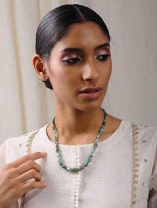 Natural Emerald Beaded Necklace