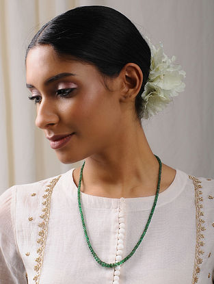 Natural Faceted Emerald Beaded Necklace