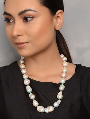 Baroque Pearl and Emerald Necklace