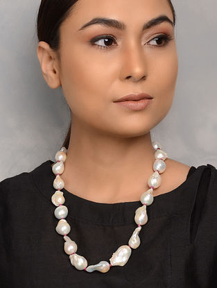 Baroque Pearl and Ruby Necklace