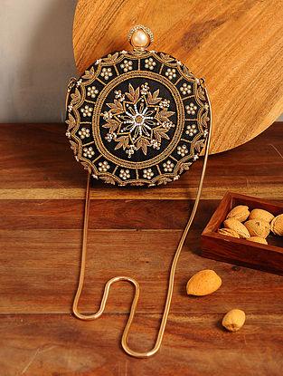 Black Handcrafted Satin Clutch