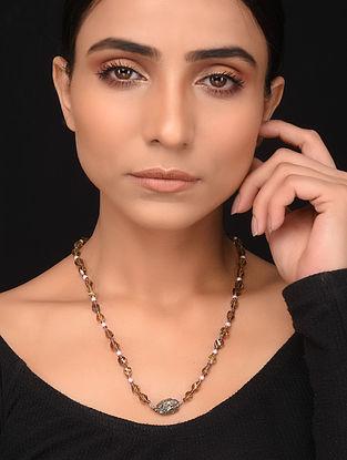 Natural Quartz and Garnet Beaded Necklace