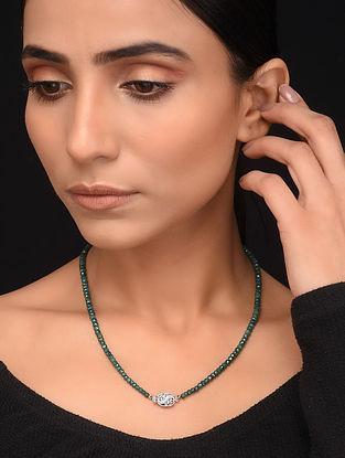 Natural Corundum Emerald Beaded Necklace