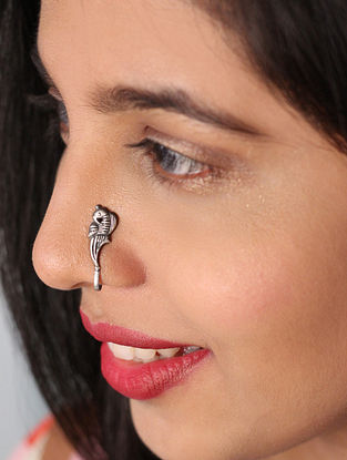 Tribal Sterling Silver Nose Clip