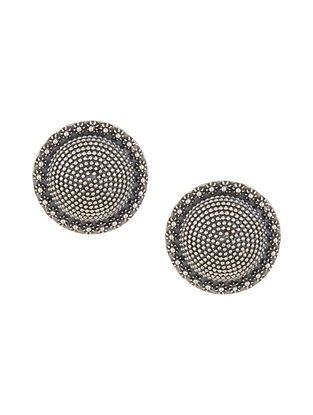Tribal Sterling Silver Stud Earrings