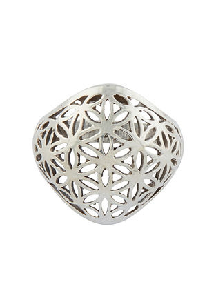 Tribal Sterling Silver Adjustable Ring