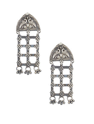 Tribal Sterling Silver Earrings