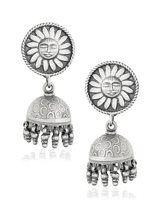 Tribal Sterling Silver Jhumki Earrings