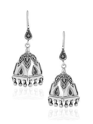 Tribal Sterling Silver Jhumki Earrings