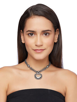 Tribal Sterling Silver Necklace
