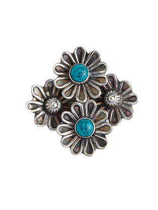 Turquoise Adjustable Sterling Silver Ring