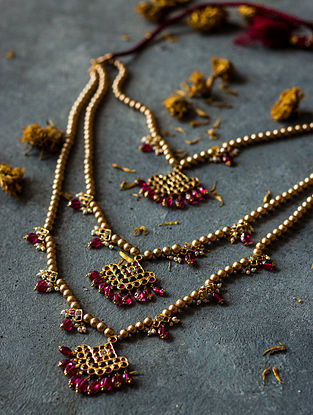 Ruby Gold-plated Silver Necklace