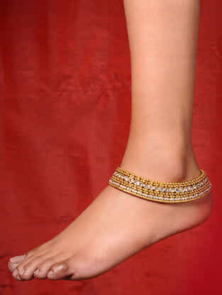 Classic Gold Tone Handcrafted Anklets