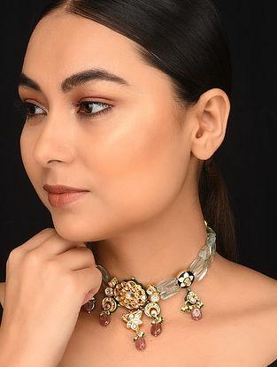 Multicolored Enameled Gold Plated Kundan Necklace