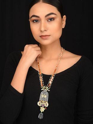 Multicolored Meenakari Dual Plated Kundan Necklace