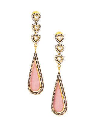 Pink Gold Plated Earrings