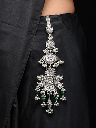 Green Tribal Silver Key Chain