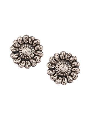 Tribal Silver Stud Earrings